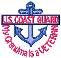 Grandma Coast Guard Vet embroidery design