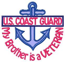 Brother Coast Guard Vet embroidery design