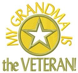 Grandma the Veteran embroidery design
