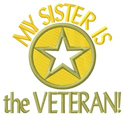 Sister The Veteran embroidery design