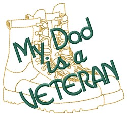 Dad Is A Veteran embroidery design