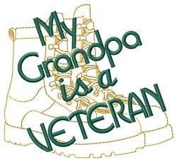 Grandpa Is A Veteran embroidery design