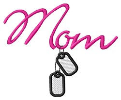 Mom Dog Tags embroidery design