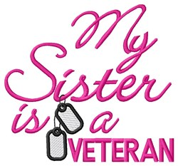 Sister Vet Tags embroidery design