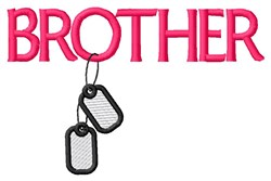 Brother Dog Tags embroidery design