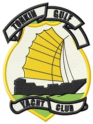 Tonkin Gulf Yacht Club embroidery design
