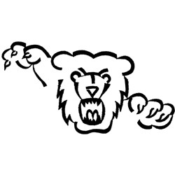 Bear with Claws embroidery design
