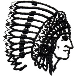 Indian Chief embroidery design