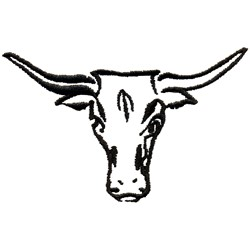Longhorns embroidery design