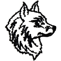 Wolf Mascot embroidery design