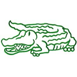 Gator Outline embroidery design