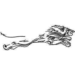 Lions Outline embroidery design