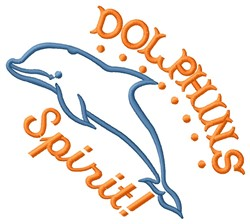Dolphins Spirit embroidery design