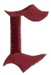 Monogram c embroidery design