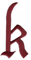 Monogram k embroidery design
