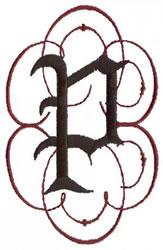 Monogram P embroidery design