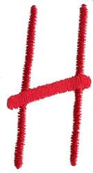 Modern H embroidery design