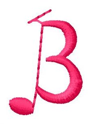 Music B embroidery design