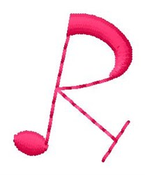 Music R embroidery design
