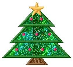 Holiday Tree Applique  embroidery design