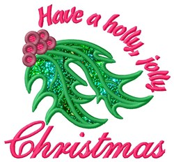 Jolly Christmas Applique  embroidery design