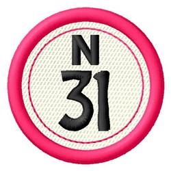 Bingo N31 embroidery design