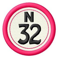 Bingo N32 embroidery design