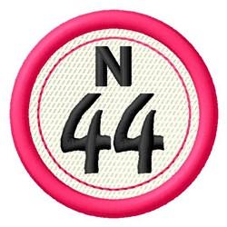 Bingo N44 embroidery design