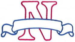 Applique Banner N embroidery design