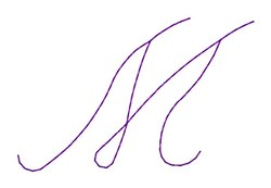 Nelly Font M embroidery design