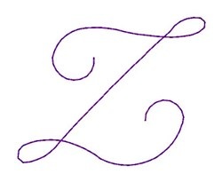 Nelly Font Z embroidery design