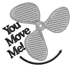 You Move Me embroidery design