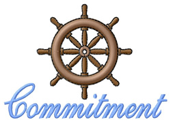 Commitment embroidery design