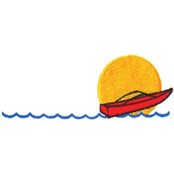 Motorboat in Sun embroidery design