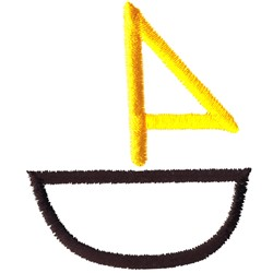 Abstract Sailboat embroidery design