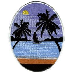 Sailing Scene embroidery design