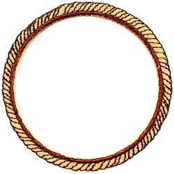 Rope embroidery design