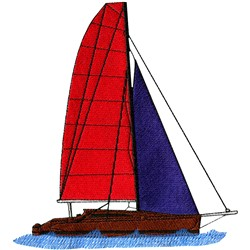 Sailing Yacht embroidery design
