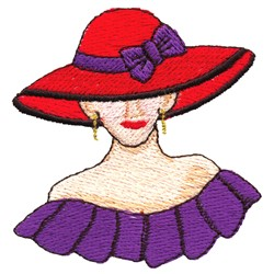 Lady Hat embroidery design