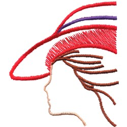 Lady Silhouette embroidery design