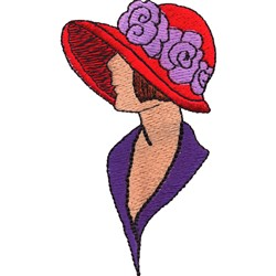Lady in Hat embroidery design