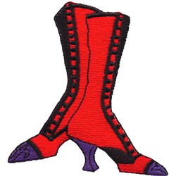 Boots embroidery design