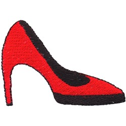 High Heel embroidery design