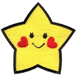 Happy Star embroidery design