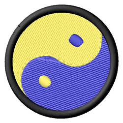 Yin and Yang embroidery design