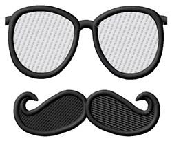 Moustache & Glasses embroidery design