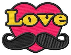 Love Moustache embroidery design