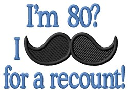 Moustache For 80 embroidery design
