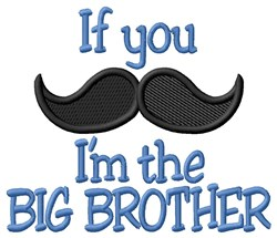 Moustache Big Brother embroidery design