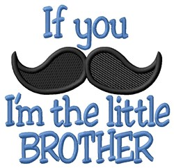 Moustache Little Brother embroidery design